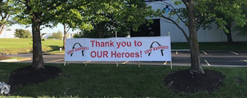 Zipp Express Thank you to our heroes!